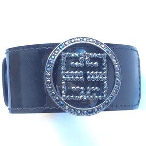 Givenchy Patent Leather Buckle Bracelet